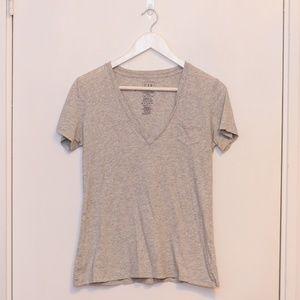 GAP Grey V-Neck T-Shirt